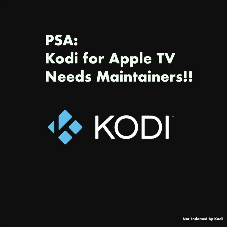 Kodi-AppleTV_Needs_maintainers